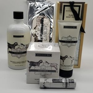 Beekman Pure Goat Milk Gift Set Wash Cream Wipes +